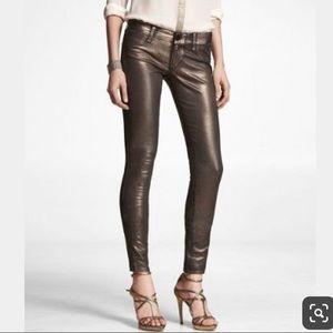 ✨Express Gold Metallic Jeans